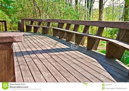 wood deck design with bench royalty free stock images image