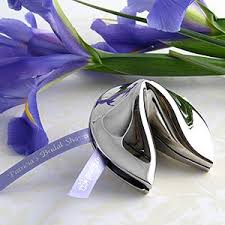 silver fortune cookie gift fortune cookie place card holders
