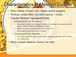 cuisine characteristics food around the the united states ppt