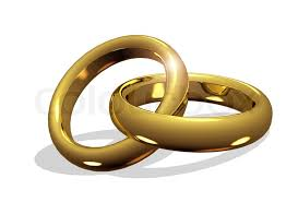 linked wedding rings golden wedding rings linked together stock photo colourbox
