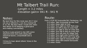 Google Map Portland Oregon by Portland Oregon Fitness Mount Talbert Trail Run