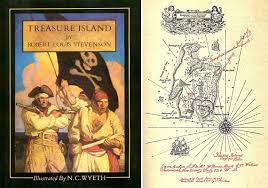 Treasure Island Map Sea Write Science