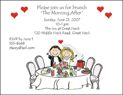wedding brunch invitation wording gift opening party