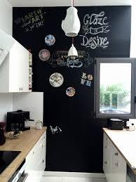 tableau craie cuisine mur en ardoise interieur pour ecrire avec peinture blanche