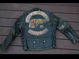 mc jacket hells angels leather jacket gang colors biker gangs pinterest