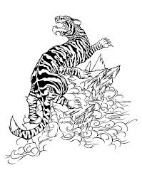 artistmikemiller tribal tiger designs