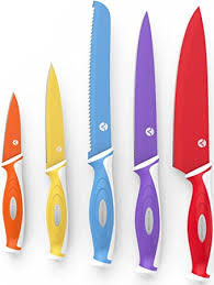 knives for the kitchen vremi 10 colorful knife set 5 kitchen knives