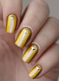 55 unique yellow nail art design ideas