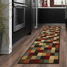 rug runners contemporary ottomanson ottohome collection contemporary checkered