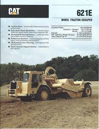 equipment brochure caterpillar 621e wheel tractor scraper
