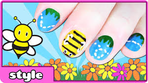 busy bee nail art tutorial for children youtube