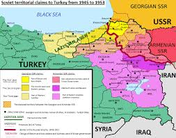 Ussr Map Soviet Territorial Claims Against Turkey Wikipedia