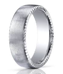 palladium mens wedding band palladium men s wedding ring rivet coin edging