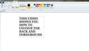 how to change background and foreground color in ms paint youtube