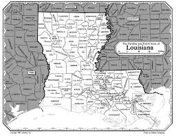 Louisiana Parish Map by Map Of Louisiana Parishes And Parish Seats Map