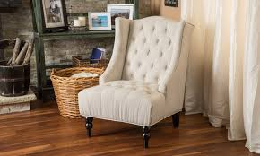 Eddie Accent Chair 12 Off On Wingback Tufted Accent Chair Groupon Goods
