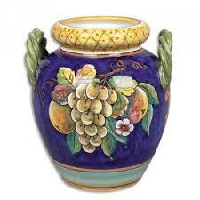 Italian Vase Hand Worked Italian Vase Italian Pottery Outlet