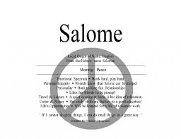 Mean Names Meaning Of The English Name Salome From Hebrew Is Peace