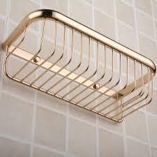 copper titanium shelf gold plated rectangular bathroom accessories