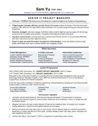 popular resume templates sle project manager resume best of sle resume it