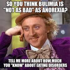 Eating Disorder Meme - creepy condescending wonka meme imgflip