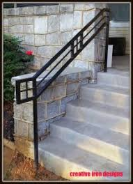 Steel Handrails For Steps Creative Iron Designs