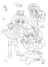 manga jewelpet coloring pages for kids printable free coloring
