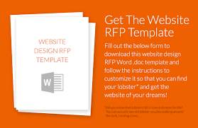 how to write a website design rfp w example template