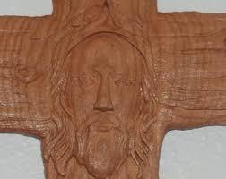 carved wooden crosses wooden jesus etsy