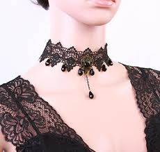 jewelry necklace choker collar images New fashion gothic jewelry black lace short choker collar jpg