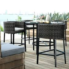 Outdoor Dining Set With Bench Dining Table Round Glass Bar Height Dining Table Room Furniture