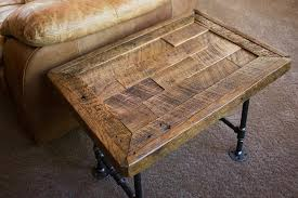 reclaimed wood end table reclaimed wood end table with pipe legs port tobacco md custom