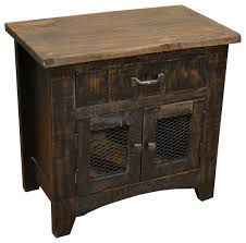 bayshore black nightstand rustic nightstands and bedside