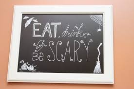 time for crafts halloween chalkboard