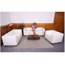 salon du canapé 3 2 1 divan salon canapé canapé en cuir imitation lille blanc