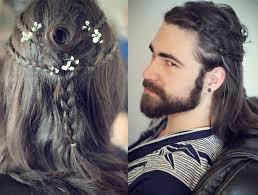 men s heroic warrior hairstyles gaelic braids gothic samurai