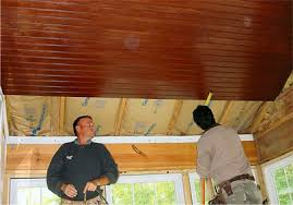 Pine Ceiling Boards by Ceiling Install Barnaby U0026 Sons