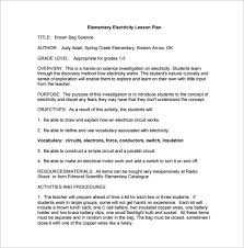 elementary lesson plan template u2013 11 free word excel pdf format