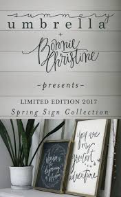 limited edition 2017 spring sign collection giveaway