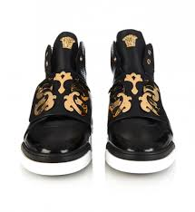 lamborghini shoes versace baroque shield high top leather trainers versace