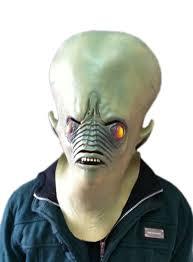 Halloween Costume Ghost Aliexpress Buy Creepy Horror Ghost Alien Latex Mask