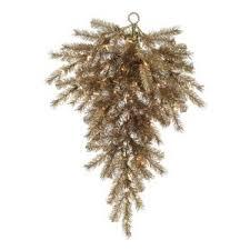 outdoor prelit christmas trees target