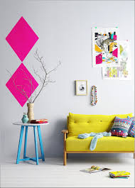 Colorful Furniture by Furniture Colorful Room With Yellow Mid Century Sofa Near Round