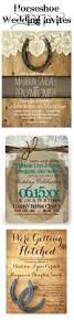horseshoe wedding invitations for a country western wedding cheap