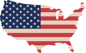 Map Of America by Free Clipart Of A Map Of America With A Flag