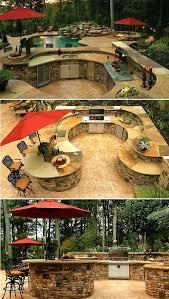 Outdoor Kitchens Design by Best 25 Backyard Kitchen Ideas On Pinterest Outdoor Kitchens