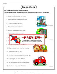 ideas collection super teacher worksheets prepositions with