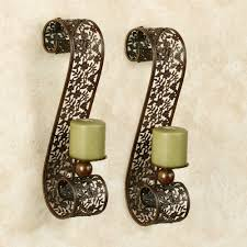 Gold Wall Sconces For Candles Ergonomic Metal Wall Sconces For Candles Leyanna Mosaic Wall