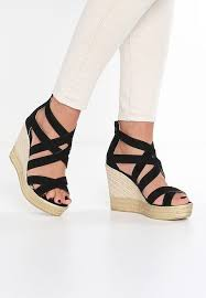 Comfortable Wedge Shoes Comfortable Shoes S Oliver Wedge Sandals Black Heeled Sandals