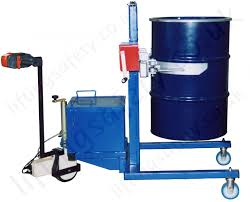 manual or powered workshop drum lifting turning handling machine